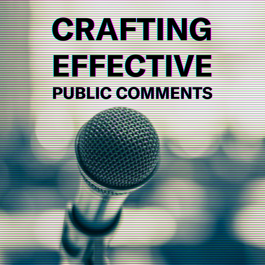 Image: Crafting effective public comments