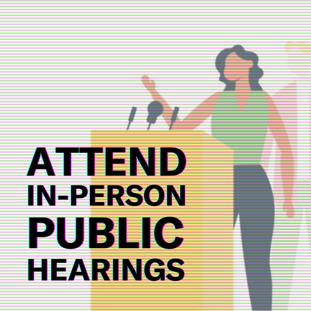 Image: Attend in-person public hearings