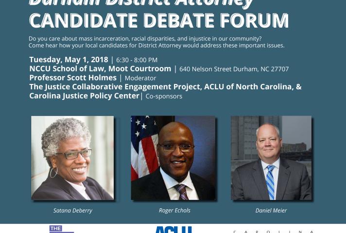 Durham District Attorney Candidate Debate Forum   ACLU of