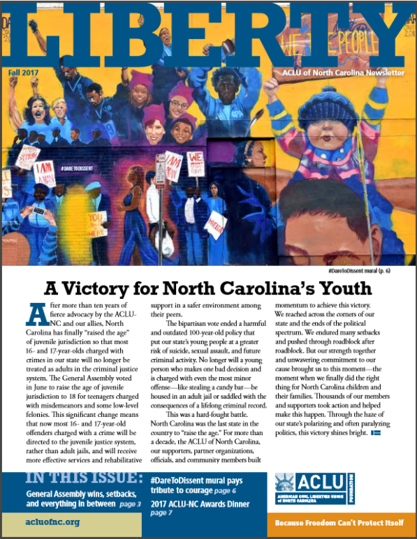 aclu, north carolina, newsletter