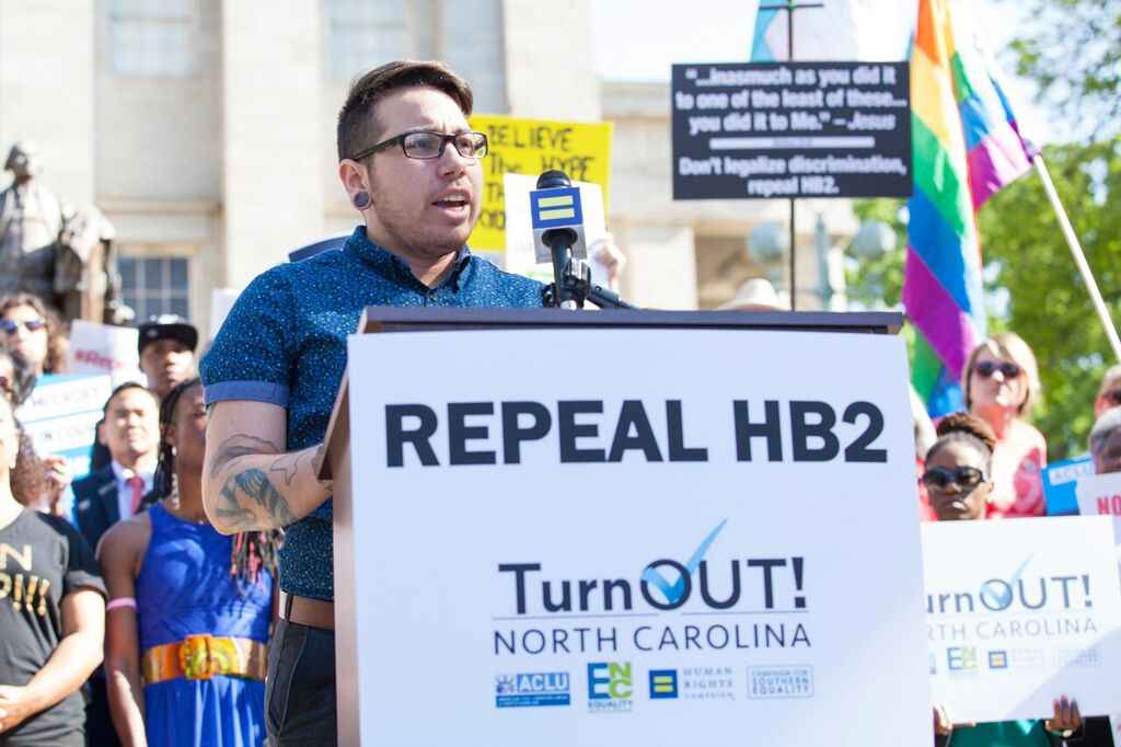 Joaquin Carcano HB2 LGBT LGBTQ trans transgender North Carolina