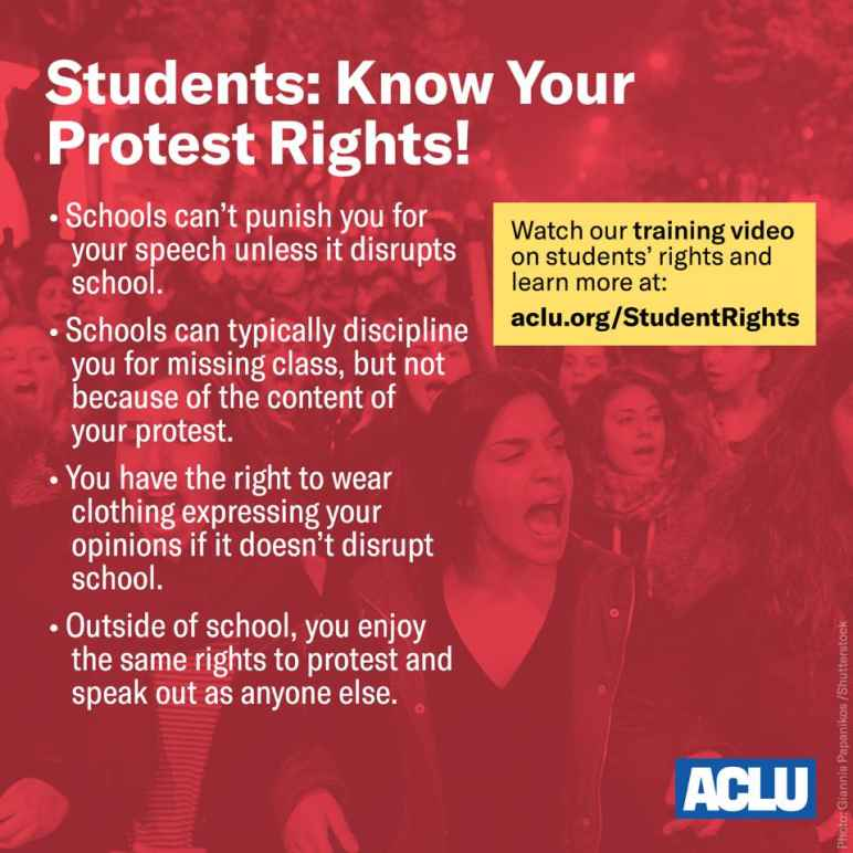 Students: Know Your Protest Rights!