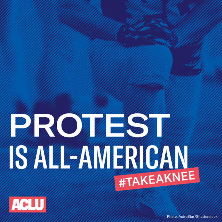 Protest is all-American. Take a knee.